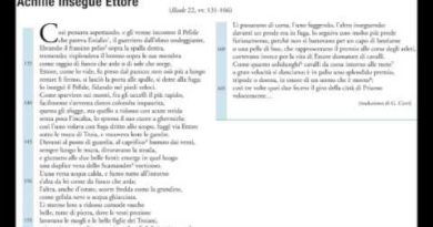 Achille insegue Ettore Iliade 22 vv. 131-166