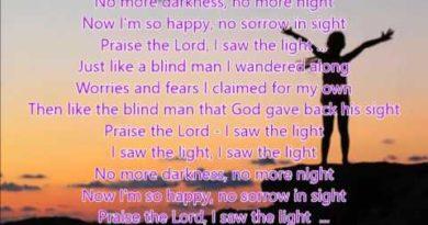 I saw the light cover lyrics