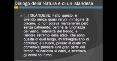 Dialogo della Natura e di un islandese di Leopardi