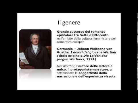 Il giovane Goethe e lettura di un brano della prima parte de I Dolori del giovane Werther