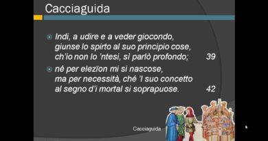 Fine della spiegazione del canto quindicesimo del Paradiso vv. 31-148