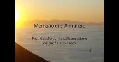 Meriggio di Gabriele D'Annunzio