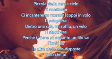 Piccola stella senza cielo cover lyrics Ligabue