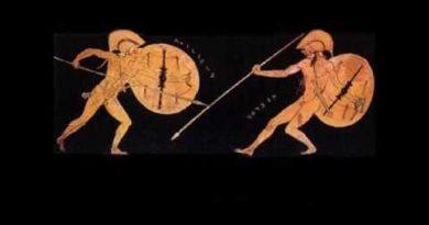 Il duello tra Ettore e Achille. Libro XXII dell' Iliade vv. 247-371