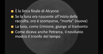 """Novil'unio da Alcyone di Gabriele Di""""Annunzio"""