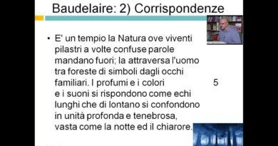 """""""Letteratura Italiana dell""""800 – Baudelaire """"""""Corrispondenze"""""""""""""""