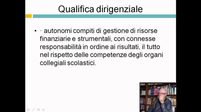 Qualifica dirigenziale – Dirigenza scolastica