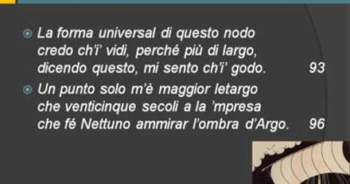 Dante Paradiso XXXIII vv. 67-145