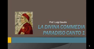 Introduzione al Paradiso e inizio della lettura del primo canto vv. 1-6