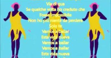 Vamos a bailar cover lyrics Paola e Chiara