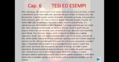 Le tipologie di principato con la lettura dei capitoli 1 e 6 del Principe