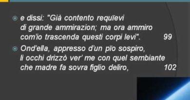 Dante Paradiso Canto primo vv. 85-142