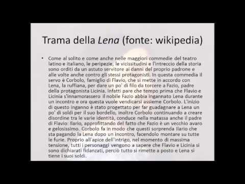 Lettura e commento di un brano tratto da La Lena di Ariosto