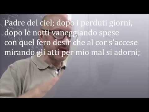 Padre del ciel di Francesco Petrarca