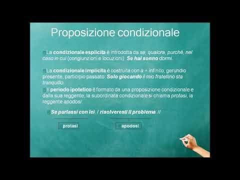 Le proposizioni condizionali
