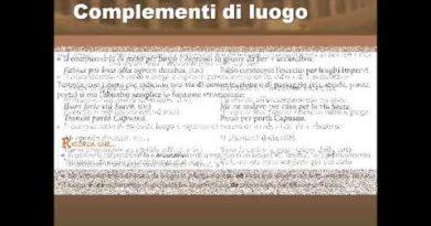 Le determinazioni di luogo in latino