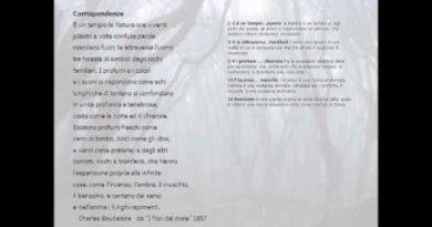 La poesia Corrispondenze di Baudelaire