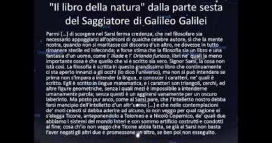 Il libro della natura dalla parte sesta del Saggiatore di Galileo Galilei