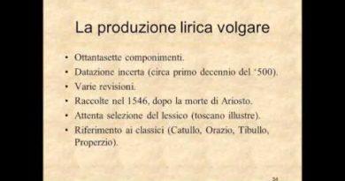 Le opere minori di Ariosto: lirica e teatro