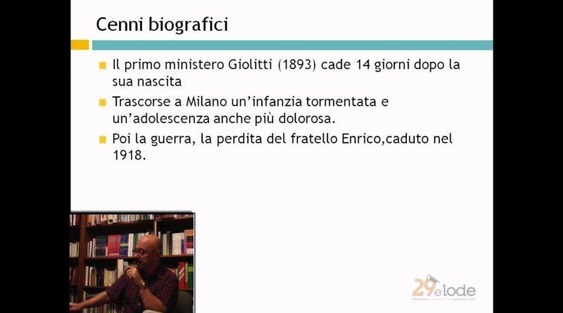 Carlo Emil'io Gadda – Lezioni di Letteratura del 900