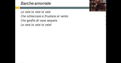 Letteratura Italiana del 900 – Dino Campana: Barche amorrate