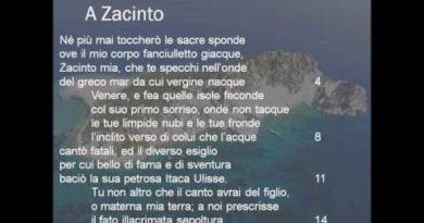 A Zacinto lettura e commento in classe del sonetto di Ugo Foscolo