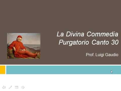 Canto trentesimo del Purgatorio vv. 1-54