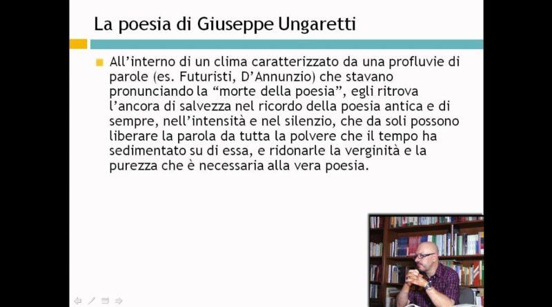 La poesia di Giuseppe Ungaretti – Lezioni di letteratura del 900