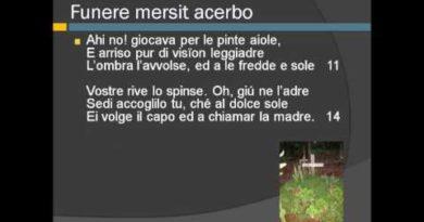 Funere mersit acerbo di Giosue' Carducci