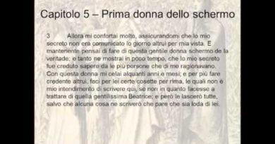Il capitolo quinto della Vita Nuova di Dante. La prima donna dello schermo