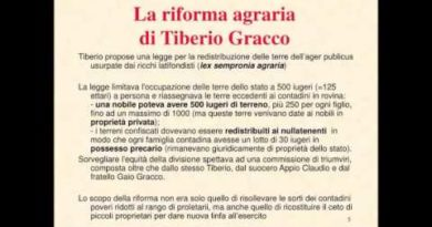 Le riforme dei Gracchi prima parte: Tiberio Gracco