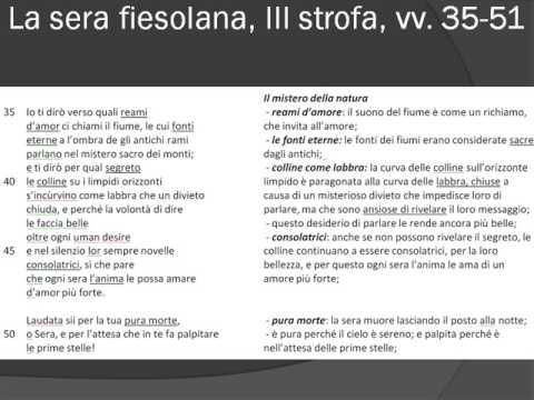 La sera fiesolana di Gabriele D'Annunzio vv. 32-51