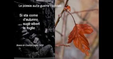 Soldati di Giuseppe Ungaretti