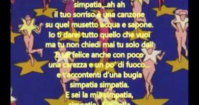 Simpatia cover lyrics Casadei