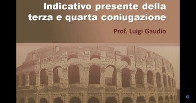 L'indicativo e l'infinito presente delle quattro coniugazioni latine