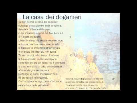 La casa dei doganieri e L'anguilla di Eugenio Montale