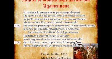 Achille si scontra aspramente con Agamennone seconda parte Iliade I vv. 137-187