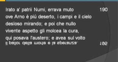 Sepolcri di Ugo Foscolo vv. 173-268