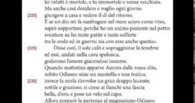 Calipso e Odisseo: libro quinto dell'Odissea vv  214-233
