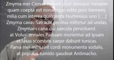 Zmyrma carme 95 del Liber catullianus