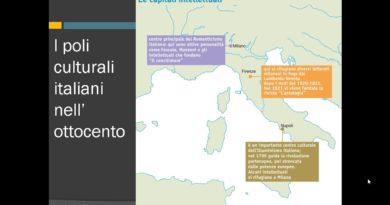 I poli culturali italiani nell'ottocento