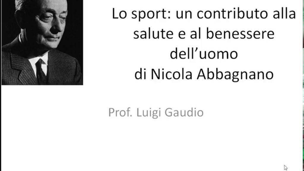 Lo sport un contributo alla salute e al benessere dell'uomo di Nicola Abbagnano