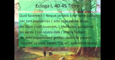 Terza parte del commento e dell'analisi della Prima Ecloga dalle Bucoliche di Virgilio vv. 37-83