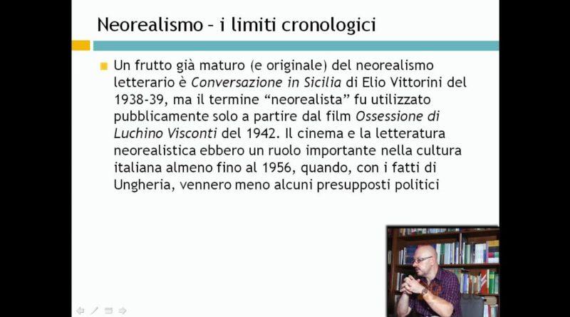 Neorealismo – Videolezioni di letteratura del 900 – 29elode