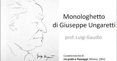 Monologhetto di Giuseppe Ungaretti