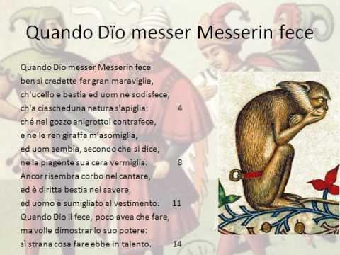 Poesia comico realista e Quando Dio Messerin fece di Rustico Filippi