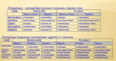 Indefiniti che significano ciascuno entrambi e qualsiasi in latino
