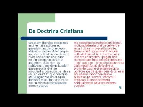 De doctrina christiana di Sant'Agostino