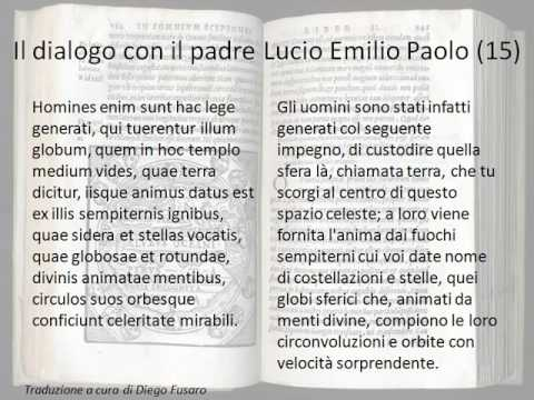 Il dialogo con il padre Lucio Emil'io Paolo cap  15 del Somnium Scipionis
