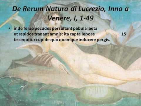 Inno a Venere di Lucrezio seconda parte vv. 10-27